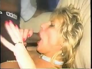 Horny blonde mom fucked byJamaican