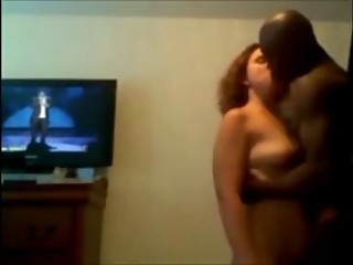 YOUNG WHITE COUPLE TURNED ON BY HIS BLACK BULL 6