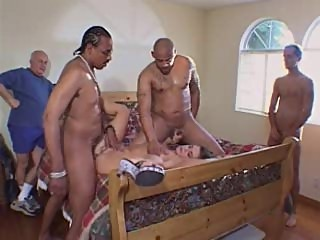 Beautiful wife fucked by 2 legend stars - husband jerks